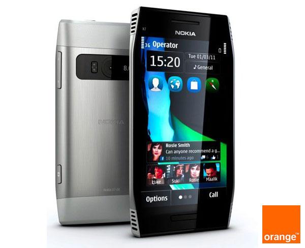 Precios y tarifas del móvil Nokia X7 con Orange