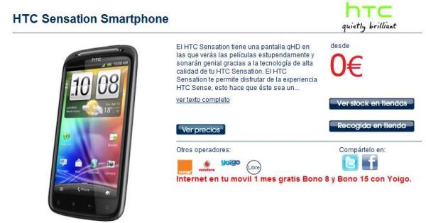 f5e49cf7b HTC Sensation con Orange en The Phone House