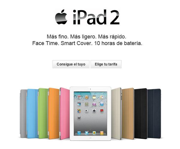 El iPad2 con Vodafone desde 299 euros