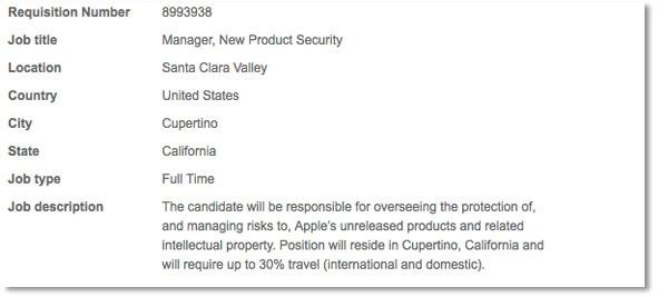 iPhone 5: Apple busca un nuevo jefe de seguridad 2