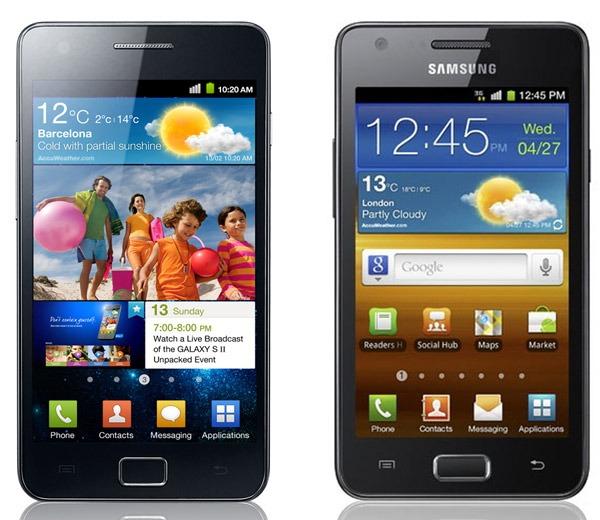 Comparativa: Samsung Galaxy S II vs Samsung Galaxy R