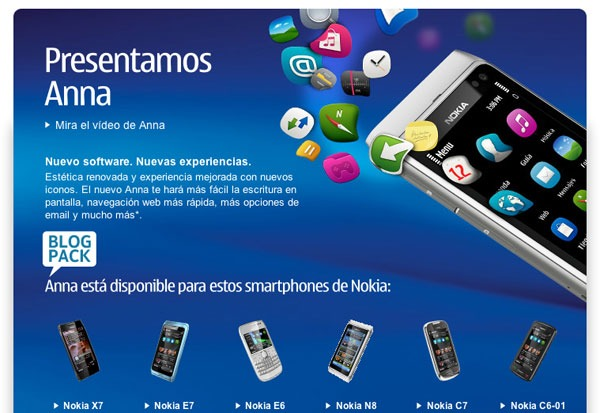 Symbian Anna, disponible en España para su descarga