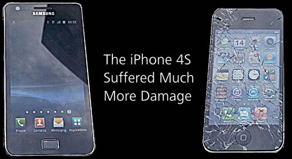 iPhone 4S y Samsung Galaxy S2: una prueba a golpes