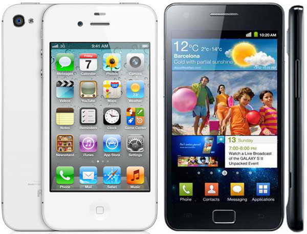 Comparativa: iPhone 4S vs Samsung Galaxy S2