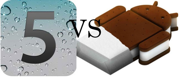 Comparativa: Android 4.0 de Google vs iOS 5 de Apple