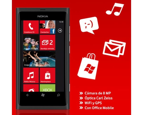 Nokia Lumia 800 con Vodafone, precios y tarifas