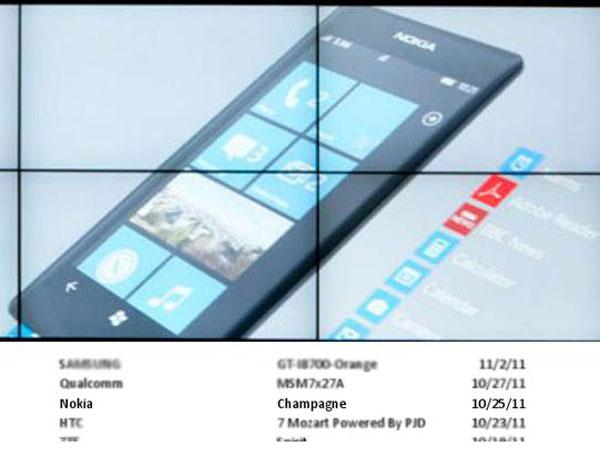El Nokia Lumia 900 podría llamarse Nokia Champagne