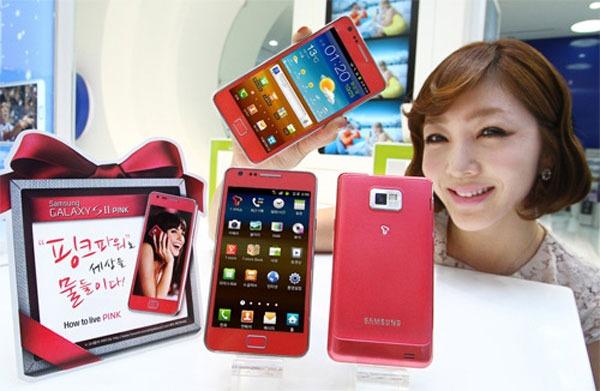 El Samsung Galaxy S2 ya ve la vida en rosa