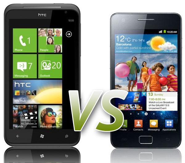 Comparativa: Samsung Galaxy S2 vs HTC Titan