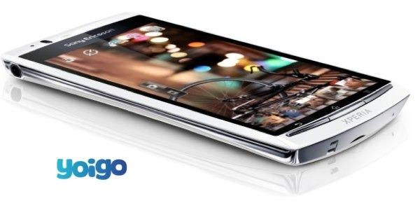 Sony Ericsson Xperia Arc S con Yoigo, precios y tarifas