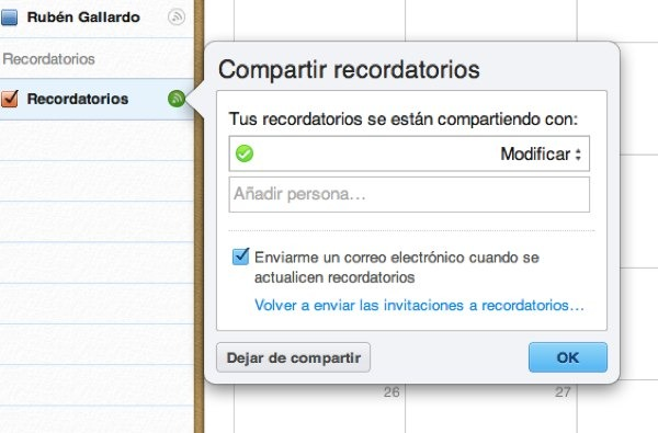 compartir recordatorios iphone