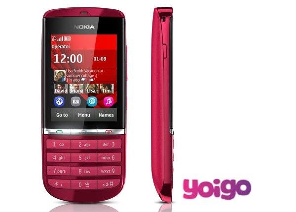 Nokia Asha 300 con Yoigo, precios y tarifas
