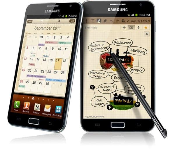 Samsung Galaxy Note se actualiza aunque no a Android 4.0
