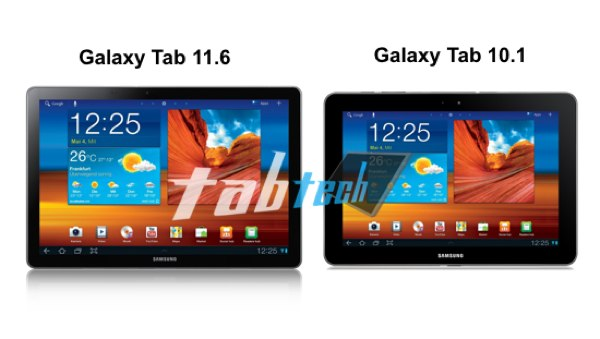 Samsung Galaxy Tab 11.6 podría ser presentada en el MWC 2012