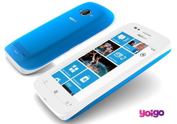 Nokia Lumia 710 Yoigo, precios y tarifas