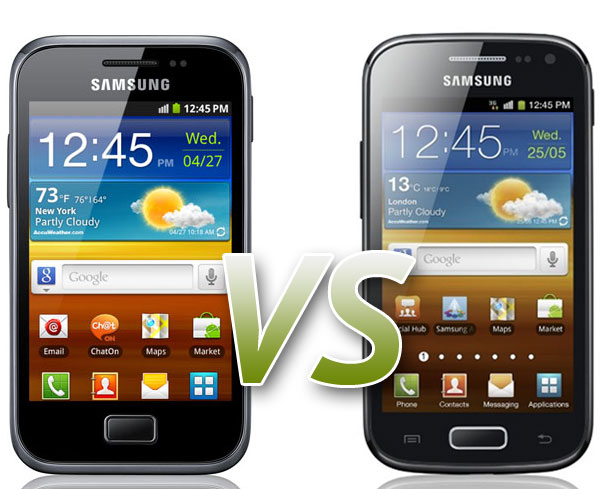 Comparativa: Samsung Galaxy Ace Plus Vs Samsung Galaxy Ace 2