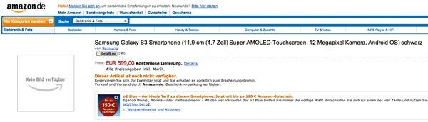 El Samsung Galaxy S3 ya se puede reservar en Amazon