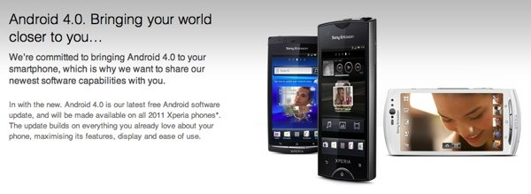Sony Ericsson Xperia Arc S, Neo V y Ray se actualizan a Android 4.0