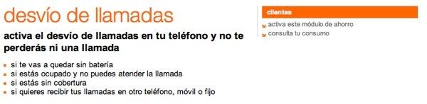 desvio llamada orange movil