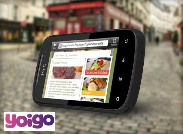 HTC Explorer con Yoigo, precios y tarifas