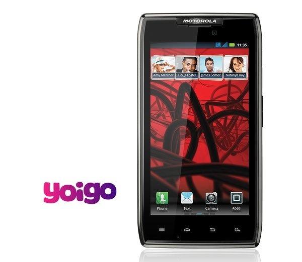 Motorola RAZR Maxx con Yoigo, precios y tarifas
