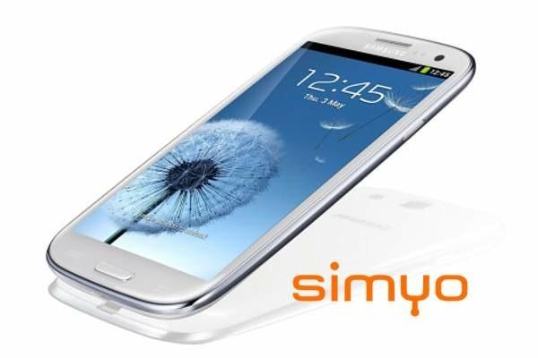 Samsung Galaxy S3, precios y tarifas con Simyo