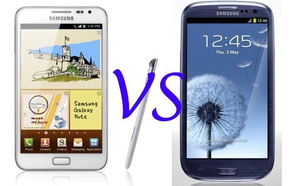Comparativa: Samsung Galaxy S3 vs Samsung Galaxy Note