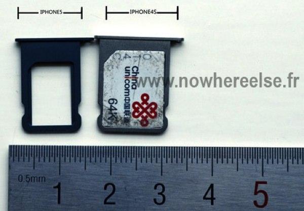 iPhone 5, imagen de la tarjeta nanoSIM que usará este móvil