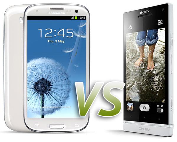 Comparativa: Samsung Galaxy S3 vs Sony Xperia SL