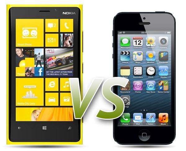 Comparativa: Nokia Lumia 920 vs iPhone 5
