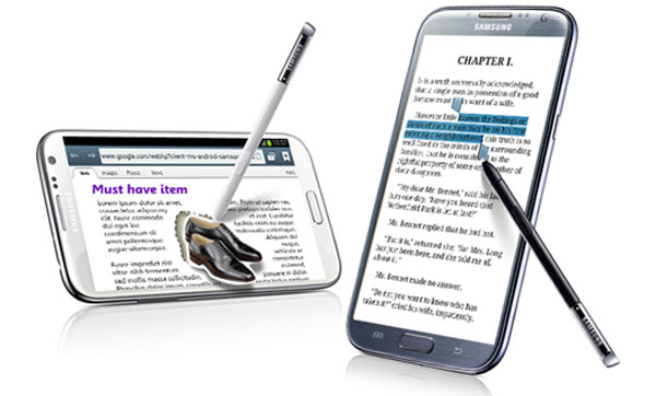 Samsung Galaxy Note 2 vs iPhone 5