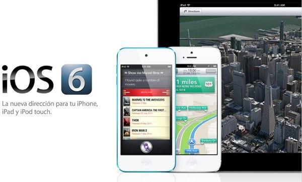iOS 6.0.1 para iPhone y iPad, actualización disponible