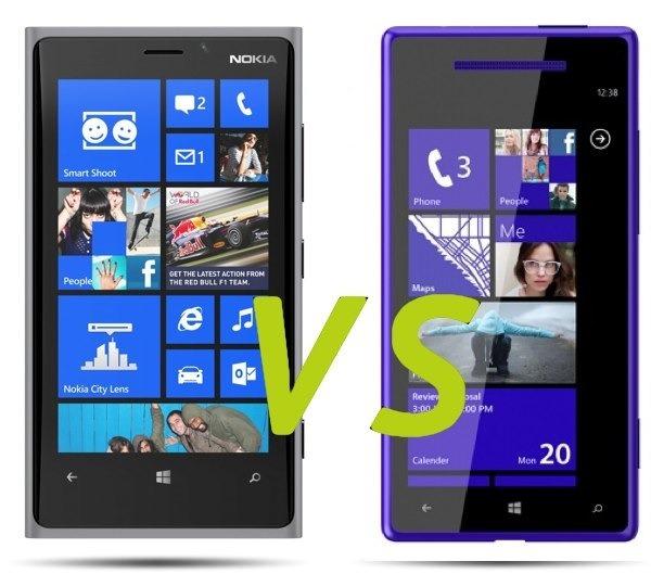 Comparativa, Nokia Lumia 920 vs HTC Windows Phone 8X