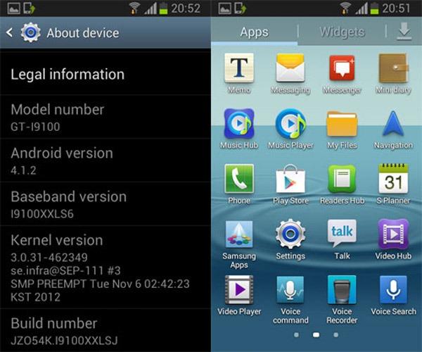 Android 4.1 ya se deja ver en el Samsung Galaxy S2
