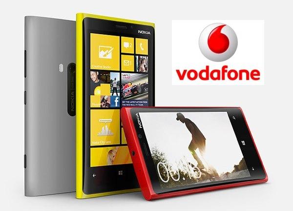 Nokia Lumia 920, tarifas con Vodafone