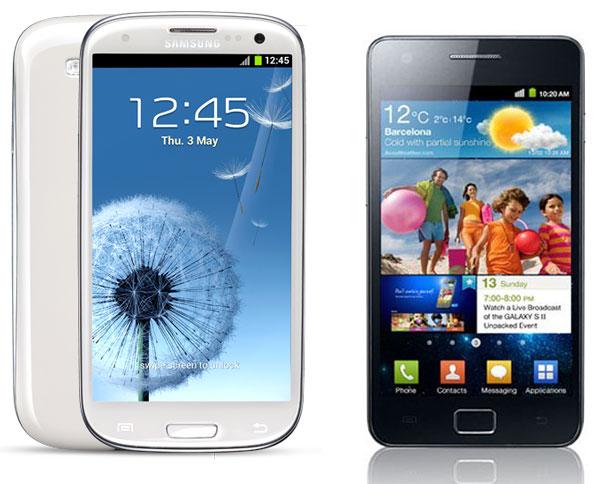 Samsung Galaxy S3 y Samsung Galaxy S2