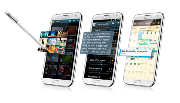 samsung galaxy note 2 vista al aire air view