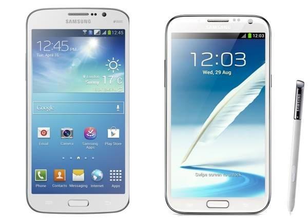 5 diferencias entre el Samsung Galaxy Mega 5,8 y el Samsung Galaxy Note 2