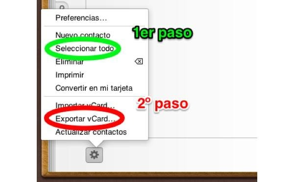 contactos iphone ipad en movil android