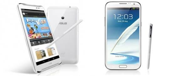 Diferencias entre Asus Fonepad Note y Samsung Galaxy Note 2