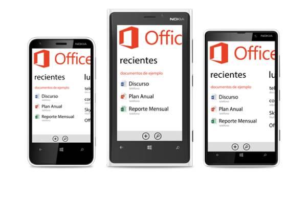 Qué ofrece Office Mobile en un Nokia Lumia