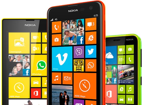 Nokia Lumia 625, Nokia Lumia 620 y Nokia Lumia 520