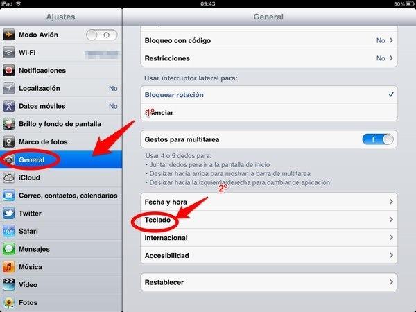 Cómo añadir nuevos teclados al iPhone o iPad