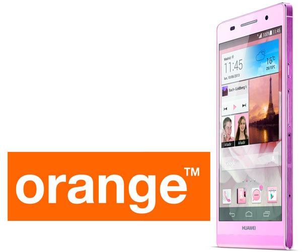 Orange vende en exclusiva el Huawei Ascend P6 en rosa