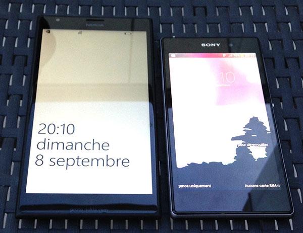 El Nokia Lumia 1520 posa junto al Sony Xperia Z