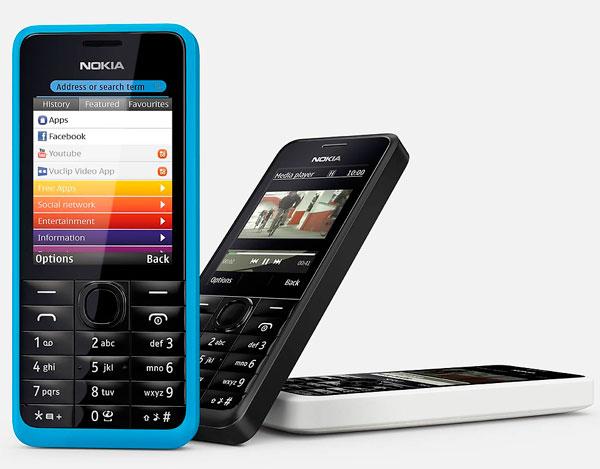 Nokia 301, precios y tarifas con Vodafone