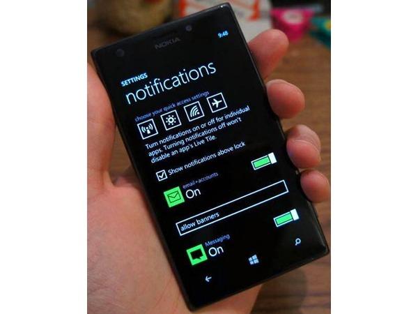 Primera imagen del centro de notificaciones de Windows Phone 8.1