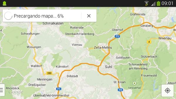 Descargar mapas de Google Maps