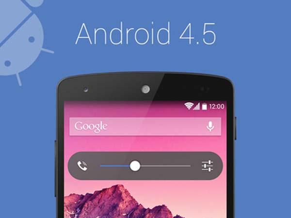 Android 4.5 de Google