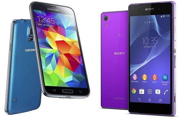Comparativa Samsung Galaxy S5 vs Sony Xperia Z2